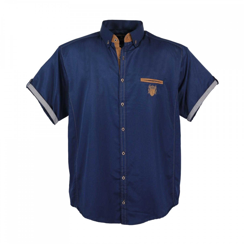 Detailbild zu Lavecchia Übergrößen Hemd mit kurzem Arm für Herren in blau - 3XL bis 7XL