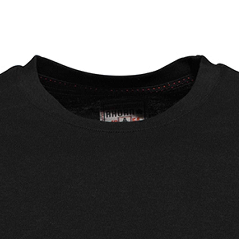 Detailbild zu Schwarzes Herren Longsleeve mit Rundhals von Ahorn Sportswear in Übergrößen XXL bis 10XL