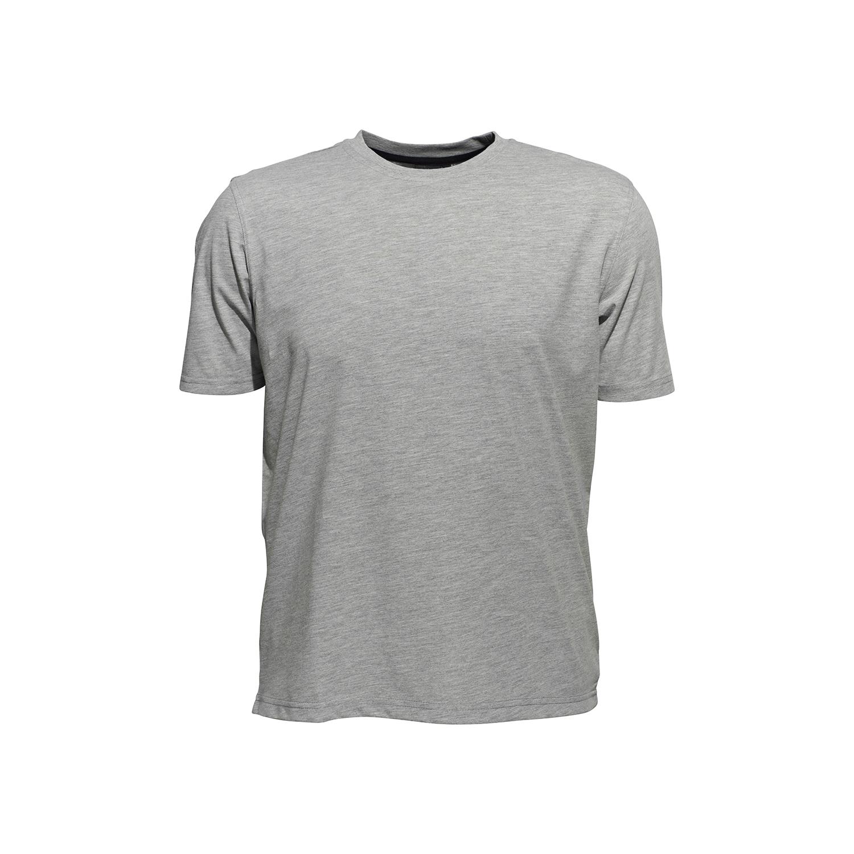 Detailbild zu Rundhalsshirt von Ahorn Sportswear, verschiedene Größen bis 10XL, grau