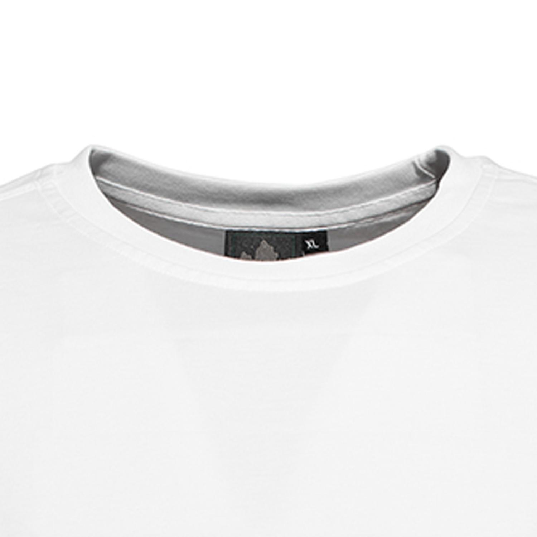 Detailbild zu Weißes Rundhalsshirt von Ahorn Sportswear - ab XXL bis 10XL