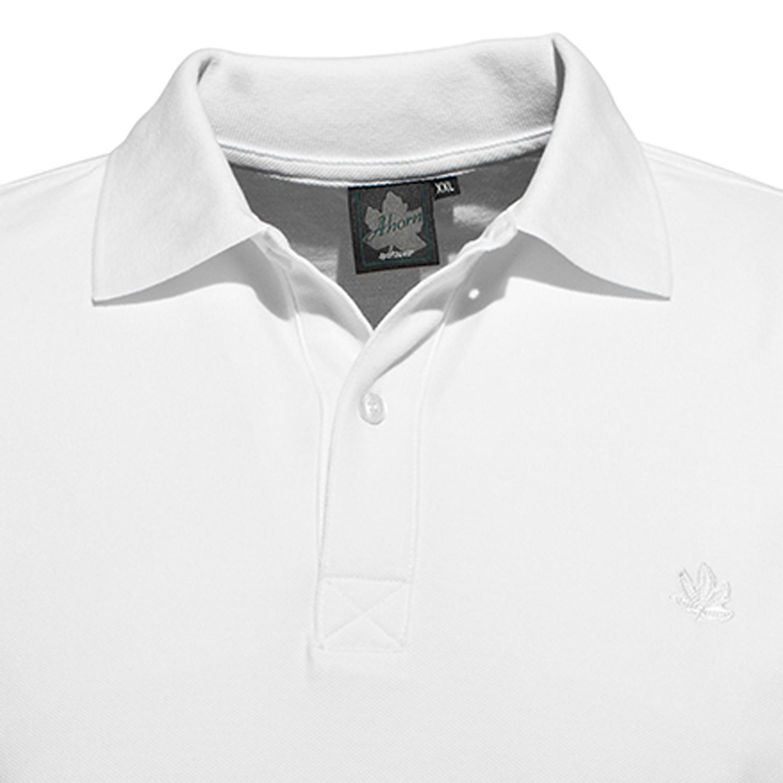 Detailbild zu Herren Pikee Polo Shirt halbarm in weiß von Ahorn Sportswear in Übergrößen 2XL bis 10XL
