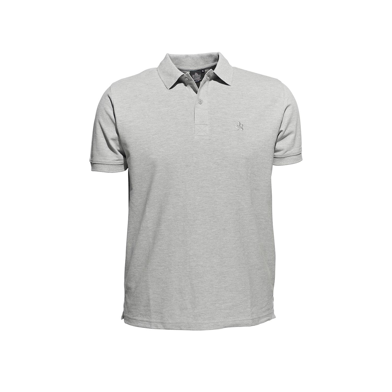 Detailbild zu Poloshirt in Piquee Qualität kurzarm graumeliert für Herren von Ahorn Sportswear bis Übergröße 10XL
