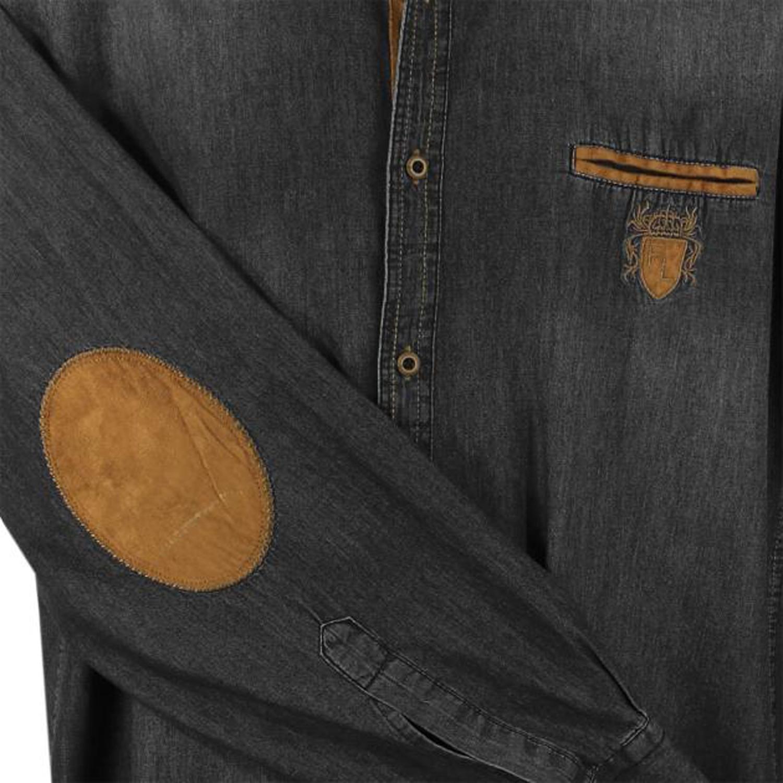 Detailbild zu Übergrößen Jeanshemd Stone-Black von Lavecchia, 3XL - 7XL