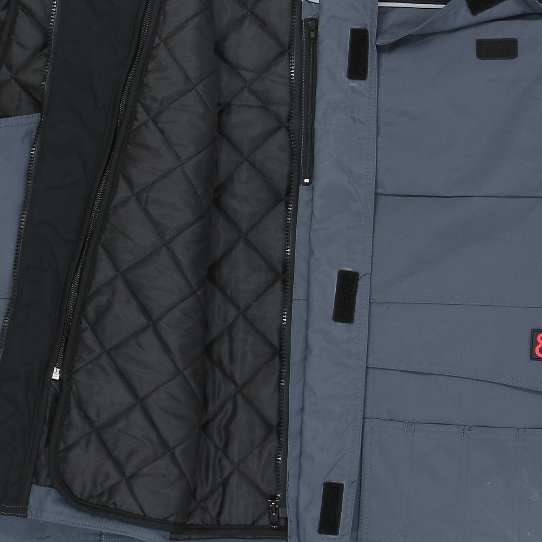 Detailbild zu Hochwertige anthrazitfarbene 2 in 1 Arbeitsweste von marc&mark in Größen bis 10XL