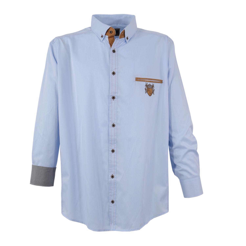 Detailbild zu Hellblaues Hemd (langarm) von Lavecchia in Übergrößen bis 7XL