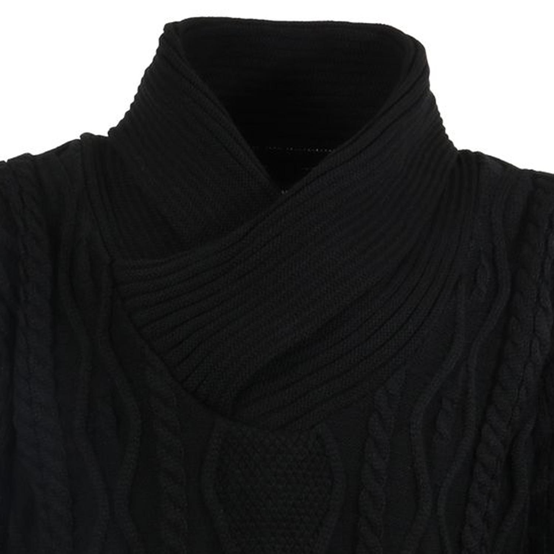 Detailbild zu Strickpullover von Lavecchia in Übergrößen schwarz bis Größe 9XL