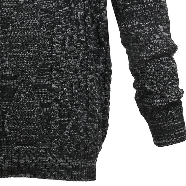 Detailbild zu Übergrößen Strickpullover von Lavecchia in anthrazit/schwarz bis Größe 9XL