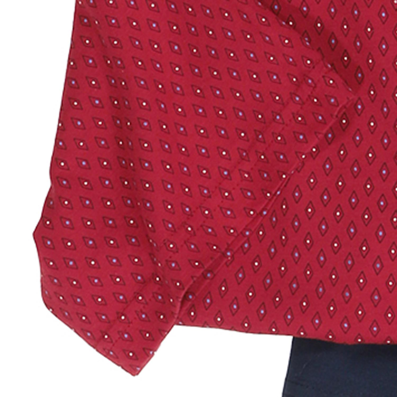 Detailbild zu Shorty Pyjama rot mit Rautenmuster und V-Ausschnitt von Götzburg in Übergrößen bis 9XL