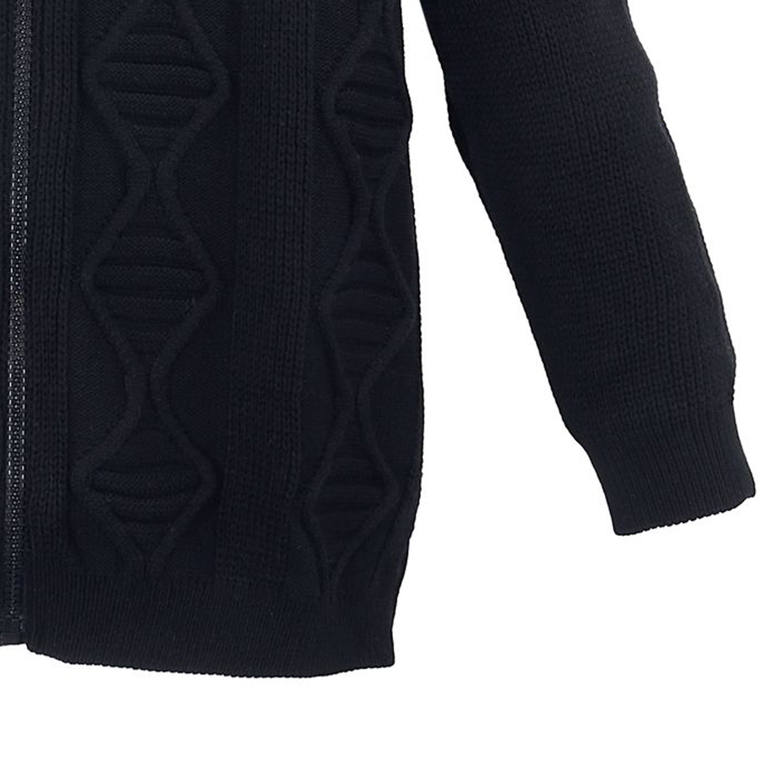 Detailbild zu Übergrößen Strickjacke mit Kapuze von Lavecchia in schwarz bis 7XL