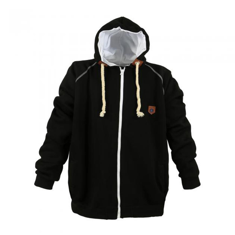 Detailbild zu Sweatshirtjacke mit Kapuze schwarz von LAVECCHIA in Übergrößen bis 8XL