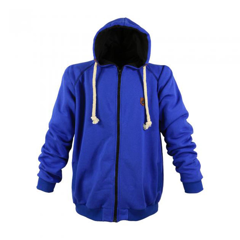 Detailbild zu Sweatshirtjacke mit Kapuze dunkelblau von LAVECCHIA in Übergrößen bis 8XL