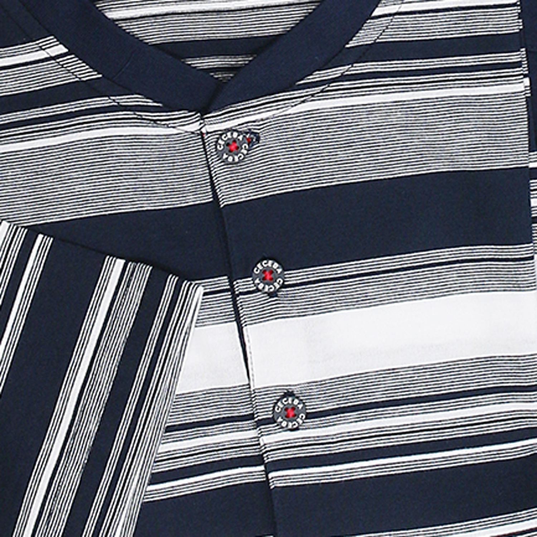 Detailbild zu Schlafanzug (lang) navy gestreift von CECEBA in Übergrößen bis 7XL