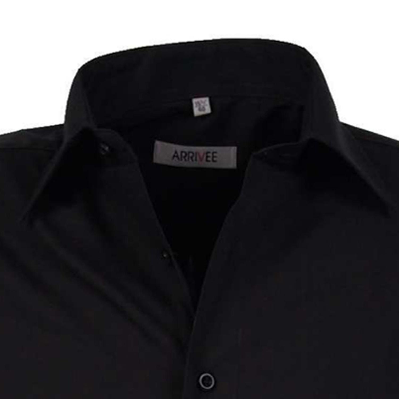 Detailbild zu Langarm-Hemd in schwarz von Arrivee in großen Größen bis 6XL