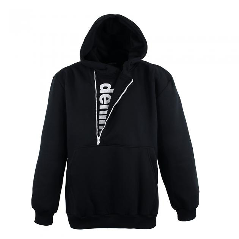 Detailbild zu Schwarzes XXL Sweatshirt mit Kapuze für Herren von Lavecchia bis 8XL