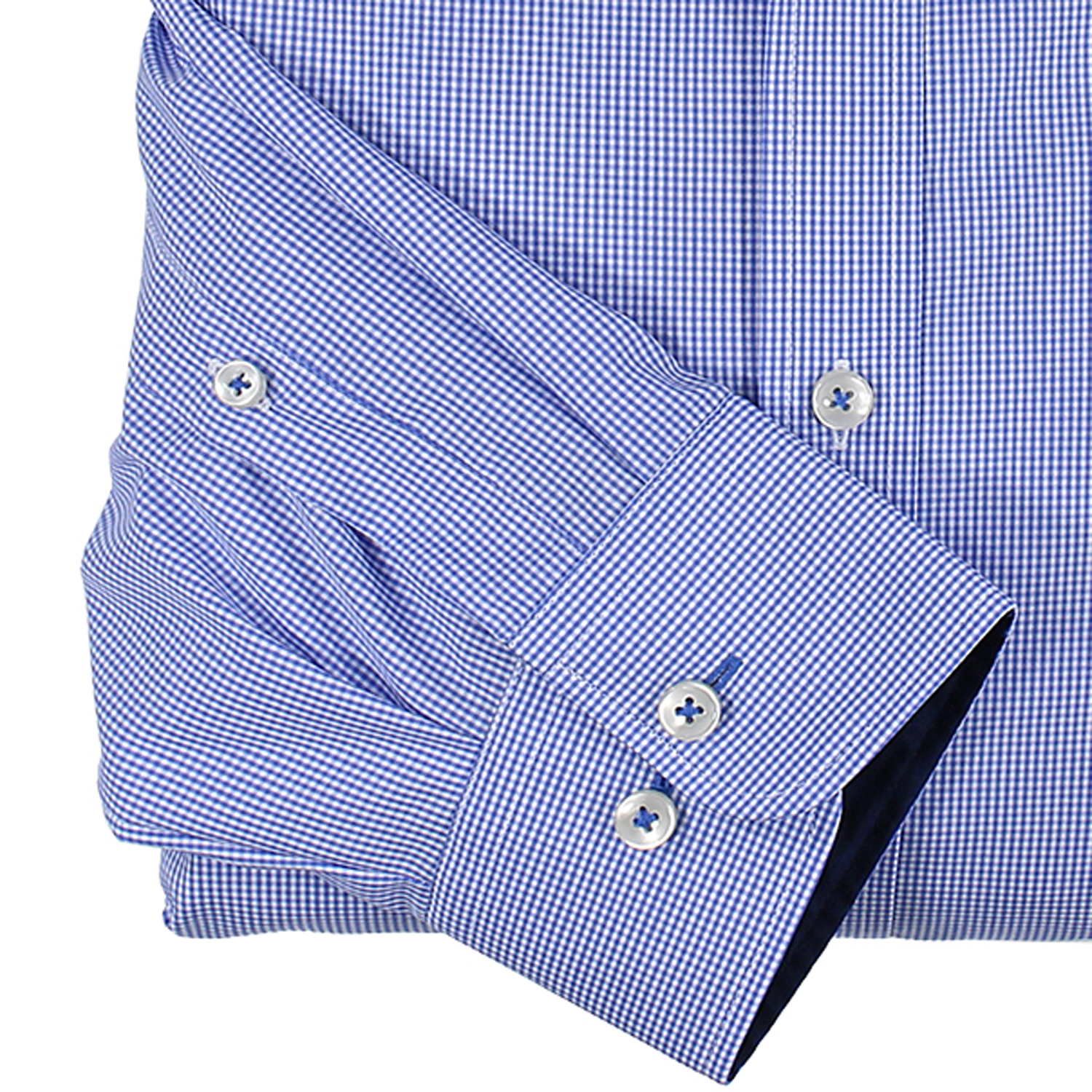 Detail Image to Checked long sleeve shirt in light blue by Casa Moda up to oversize 7XL