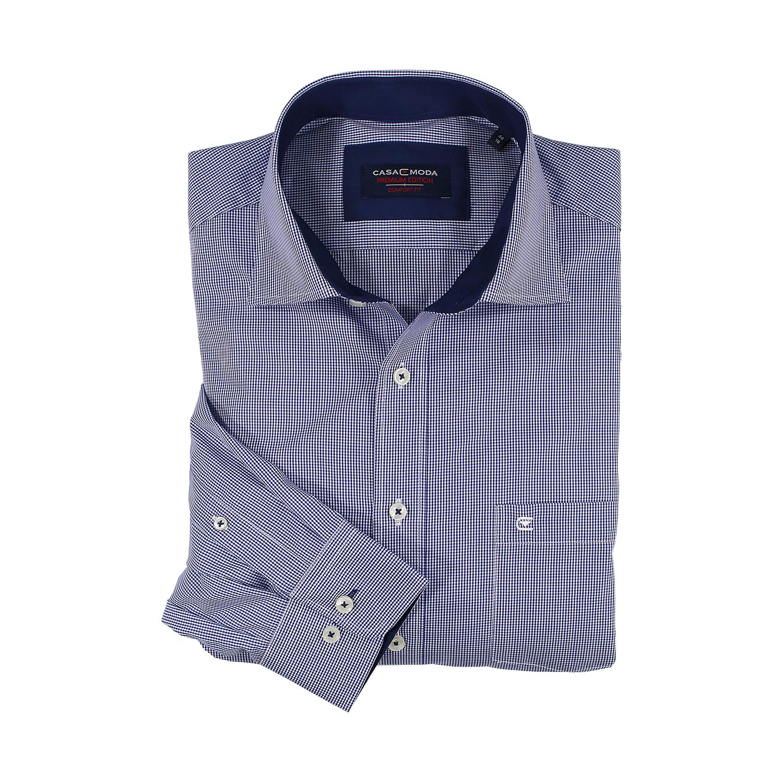 Detailbild zu Dunkelblau-kariertes Hemd (langarm) von Casa Moda in großen Größen bis 7XL