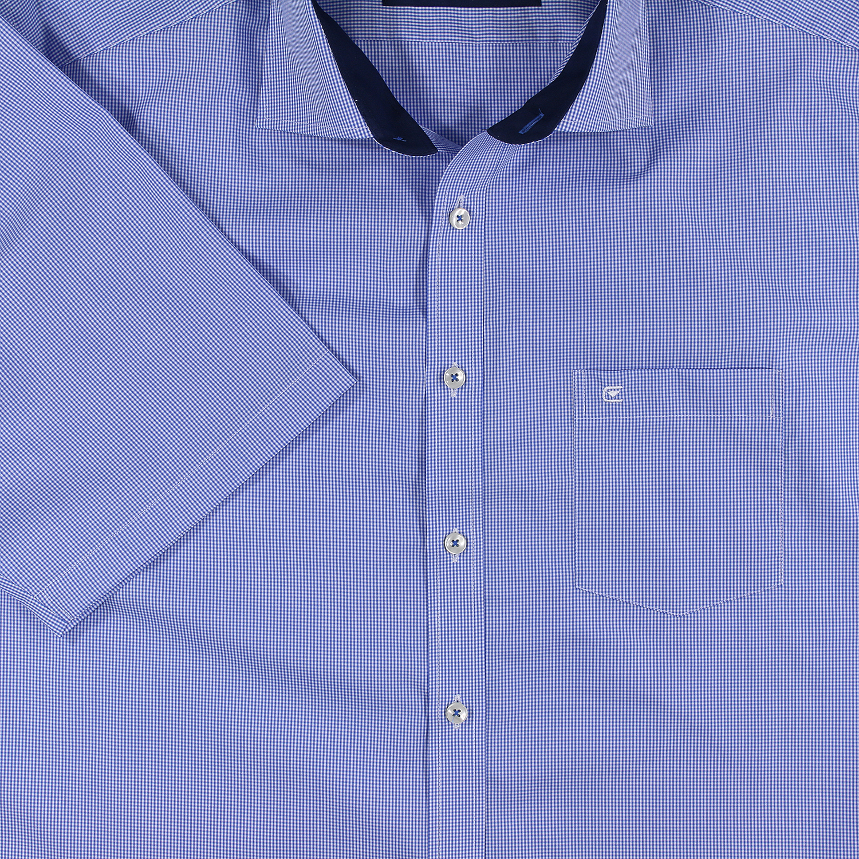 Detailbild zu Kariertes Kurzarmhemd in hellblau von Casa Moda bis Übergröße 7XL