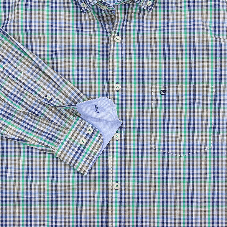 Detailbild zu Grün-kariertes Langarmhemd von Casa Moda in großen Größen bis 7XL