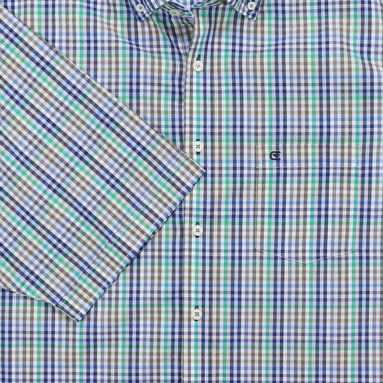 Detailbild zu Übergrößen Kurzarmhemd grün-kariert von Casa Moda bis Größe 7XL
