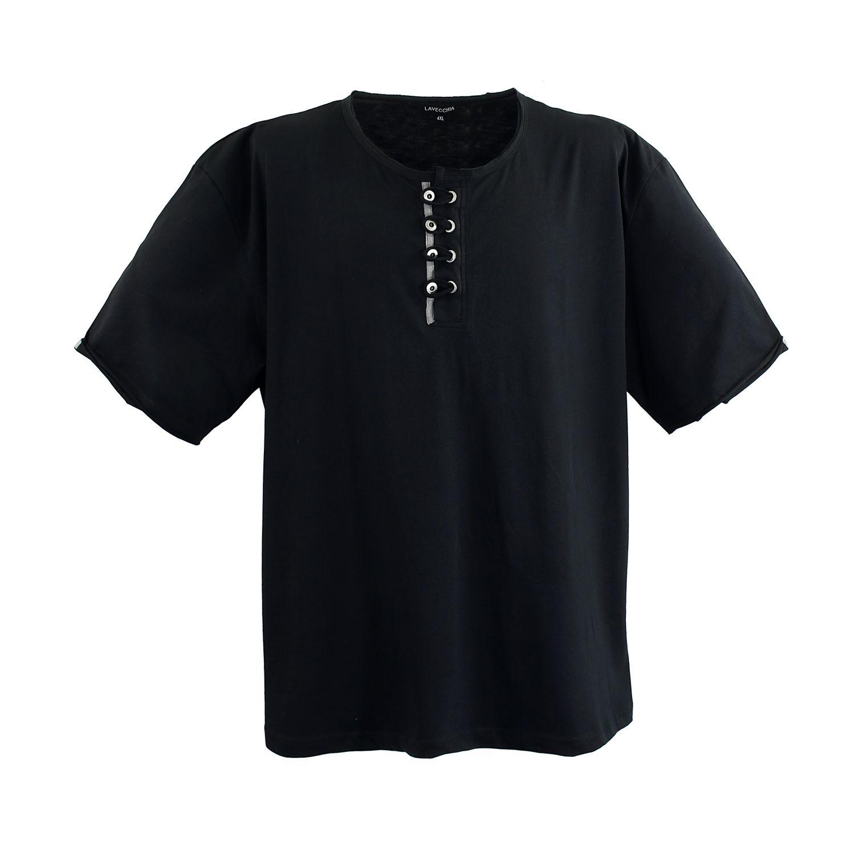 Detailbild zu Lavecchia Übergrößen Herren T-Shirt in schwarz bis Größe 8XL