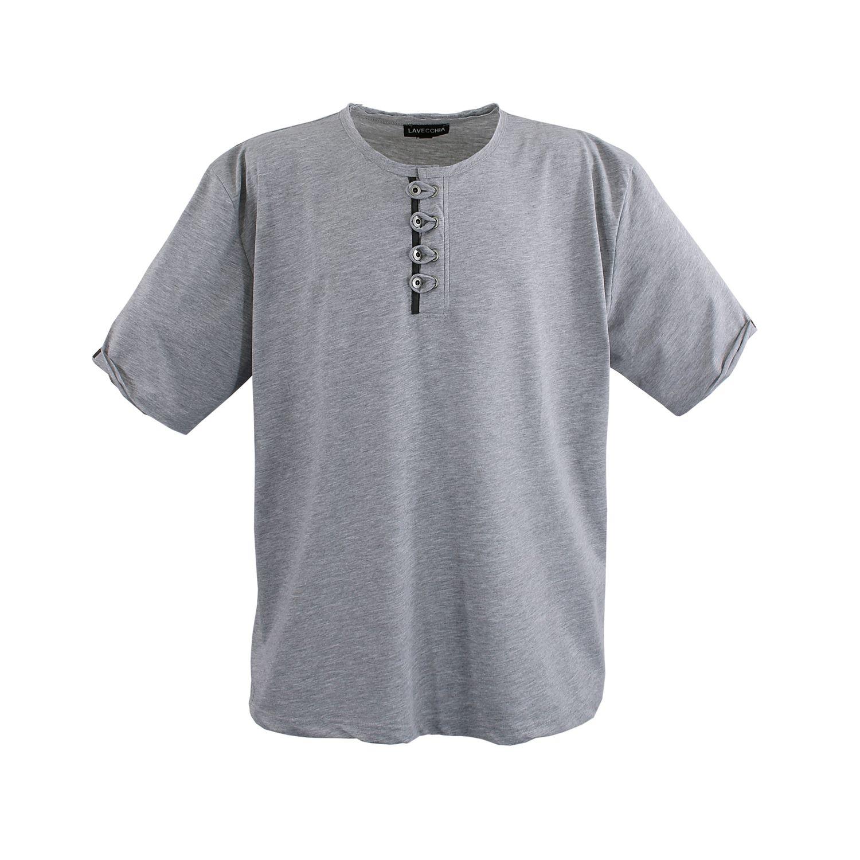 Detailbild zu Lavecchia Übergrößen Herren T-Shirt grau-meliert bis Größe 8XL
