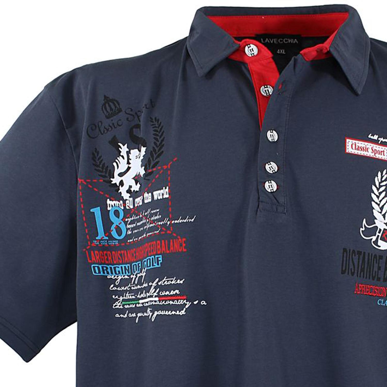 Detailbild zu Polo-Shirt in anthrazit von Lavecchia in Übergrößen bis 8XL