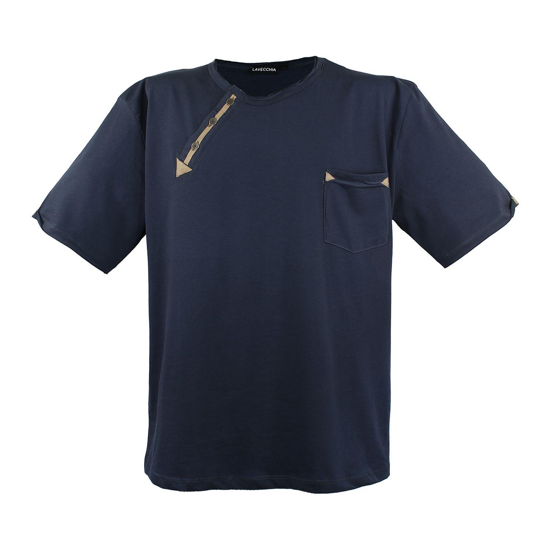 Detailbild zu Anthrazitfarbenes T-Shirt von Lavecchia in Übergrößen bis 8XL
