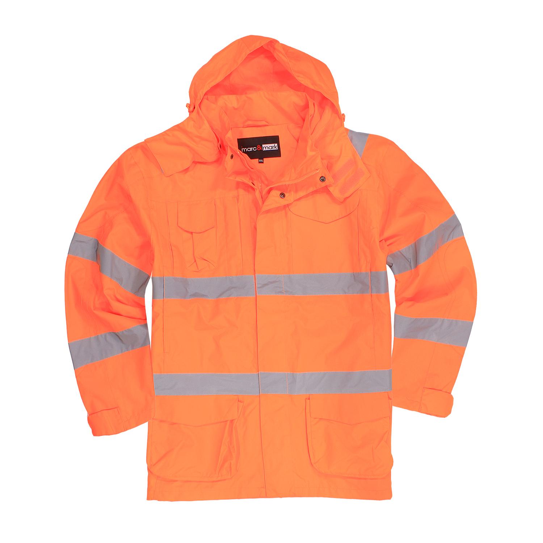 Detailbild zu Wasserdichte Warnschutzjacke in orange von marc und mark in Übergrößen bis 10XL