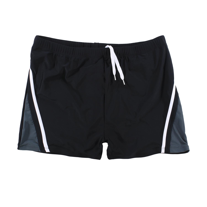Detailbild zu Boxer-Badeshort von Abraxas in schwarz-anthrazit bis Übergröße 8XL
