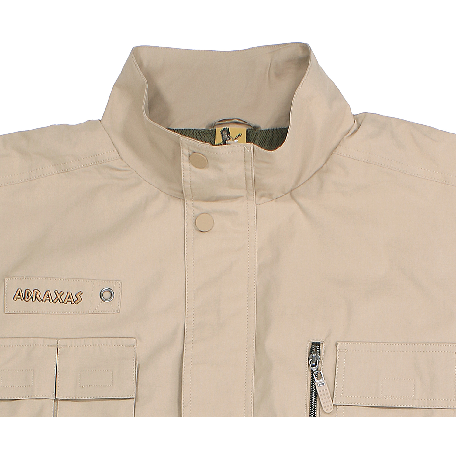 Detail Image to Outdoor vest in sand by Abraxas in oversizes up to 10XL