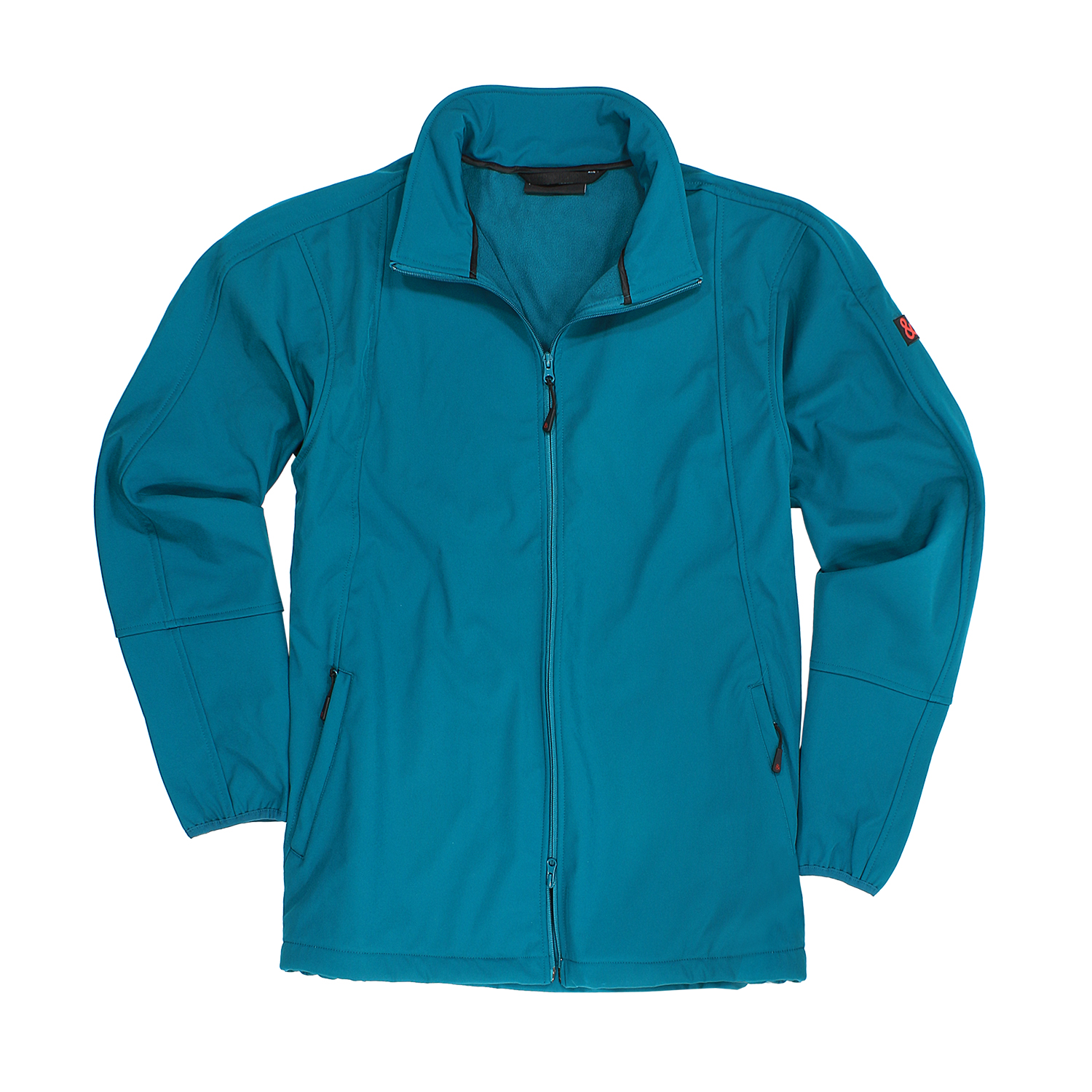 Detail Image to Softshell jacket in petrol by Marc&Mark in extra large sizes up to 10XL