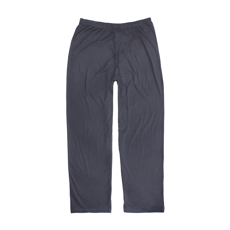 """Detailbild zu Langer Schlafanzug """"BENNO"""" mit Knopfleiste in schwarz von Adamo bis Übergröße 10XL"""
