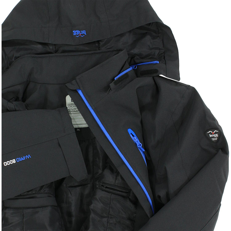 Detailbild zu Brigg gefütterte Softshell-Jacke in anthrazit bis Übergröße 10XL