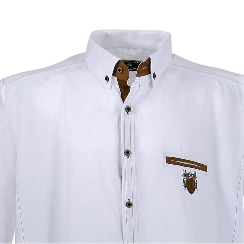 Detailbild zu Langärmliges Hemd in weiß von Lavecchia bis Übergröße 7XL