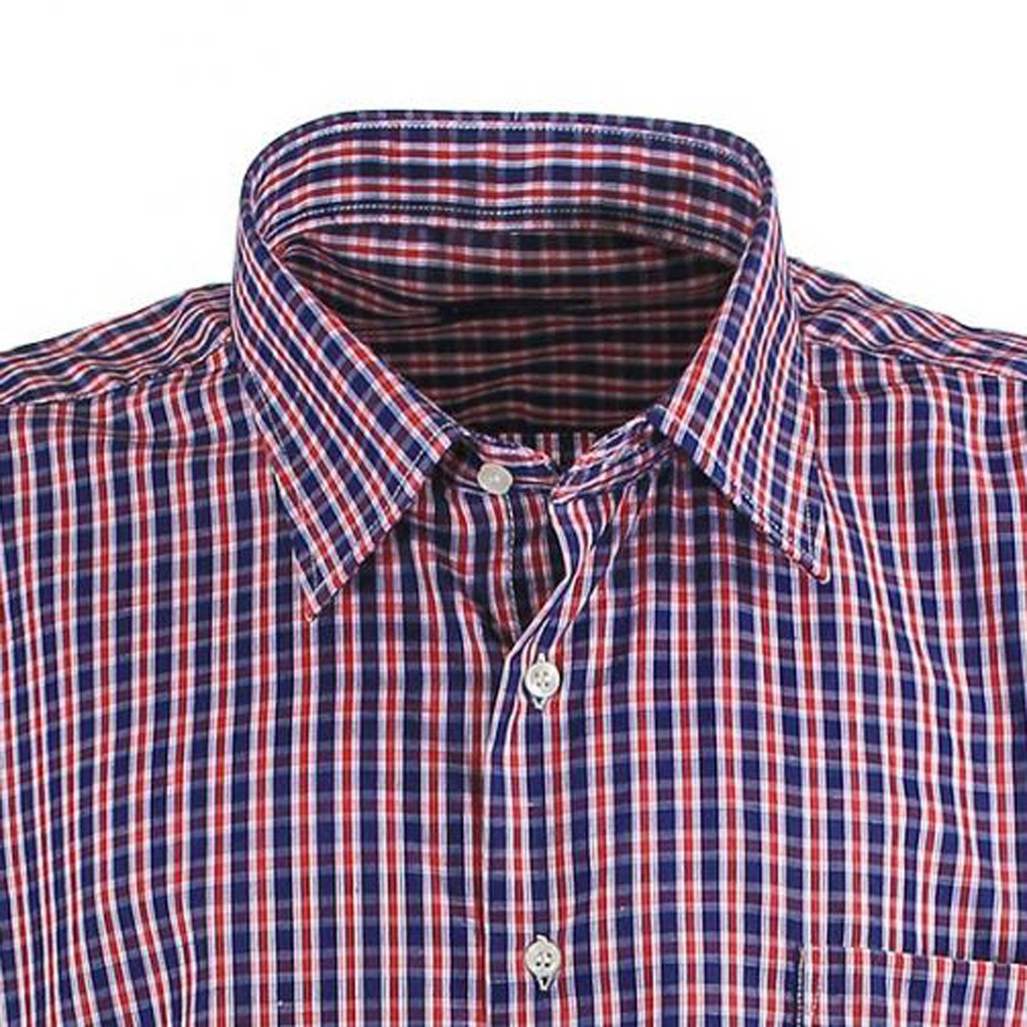 Detail Image to Checked shirt red/blue/white in king sizes by Lavecchia up to 7XL