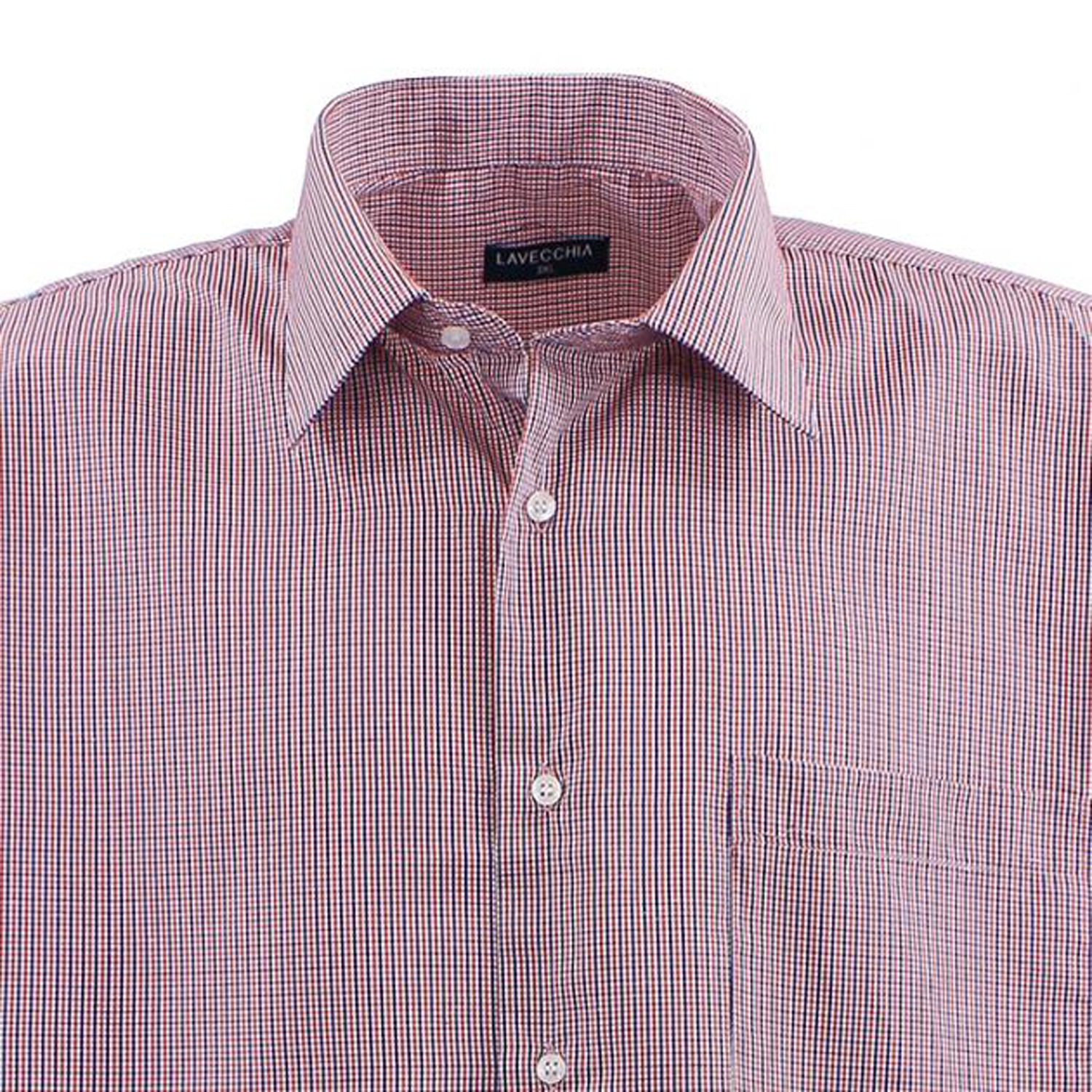 Detail Image to Checked shirt red/white/navy by Lavecchia in king sizes up to 7XL