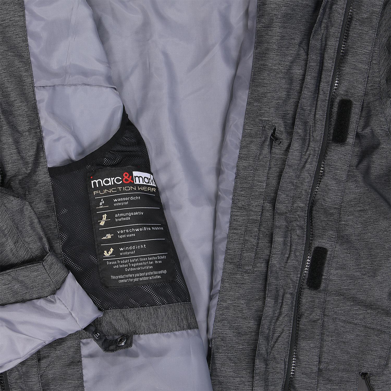 Detailbild zu Marc und Mark 3in1 Funktions-Winterjacke in grau meliert bis Übergröße 10XL