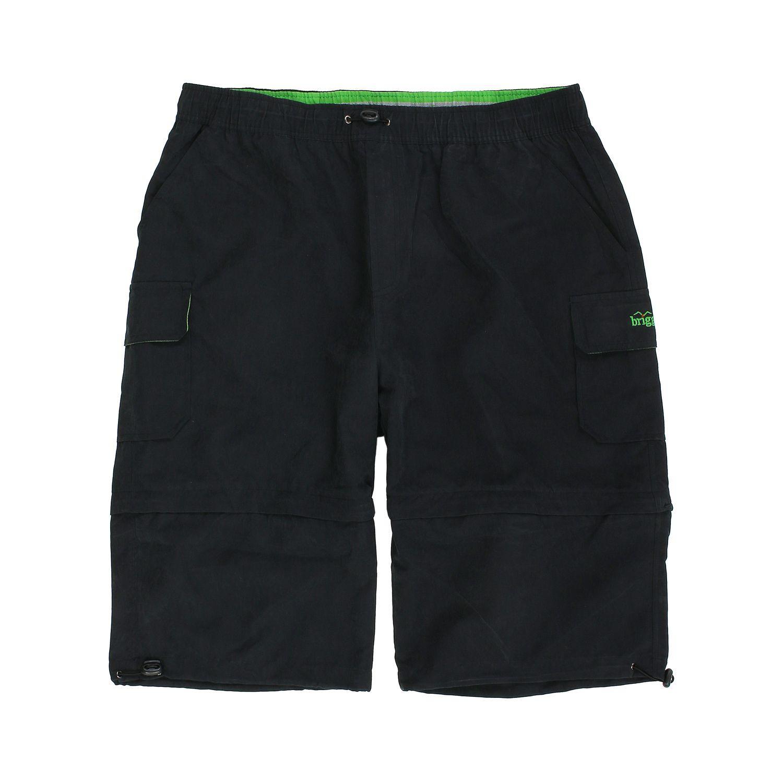 Detailbild zu Übergrößen Zipp-Off-Shorts in schwarz von Brigg bis 14XL
