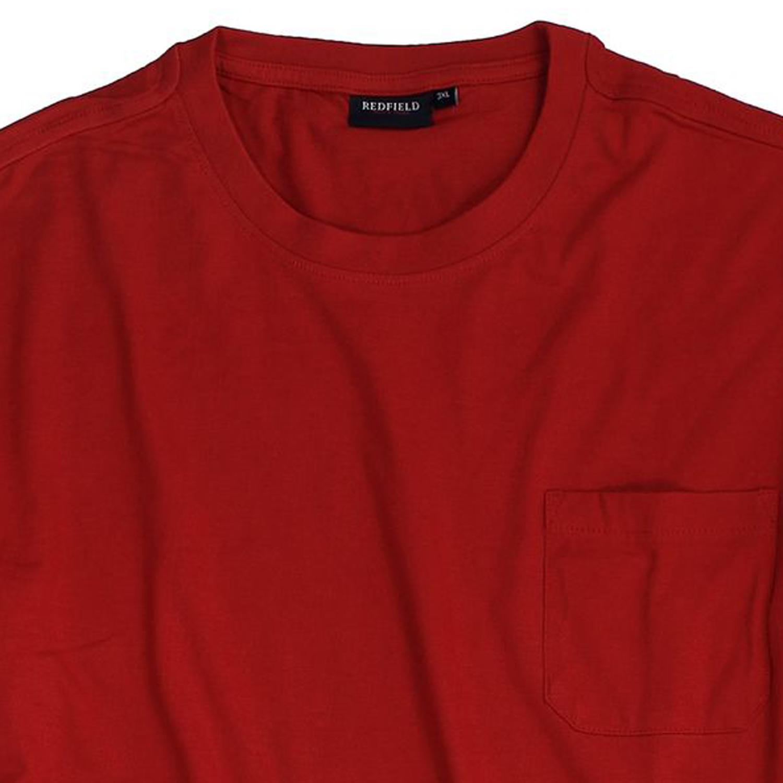 Image de détail de T-shirt en rouge de Redfield - grandes tailles jusqu'au 8XL