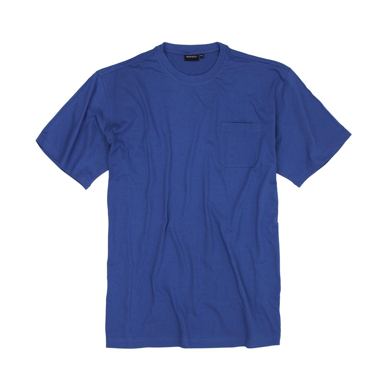 Detailbild zu T-Shirt von Redfield in kristallblau bis Übergröße 8XL