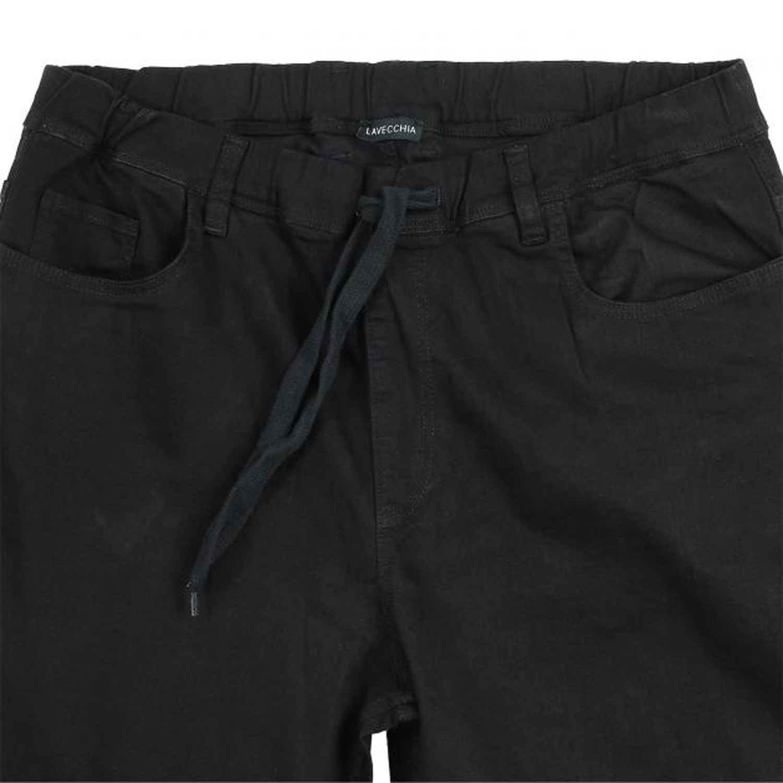 Detailbild zu Jogging-Jeanshose von Lavecchia in schwarz bis Übergröße 7XL