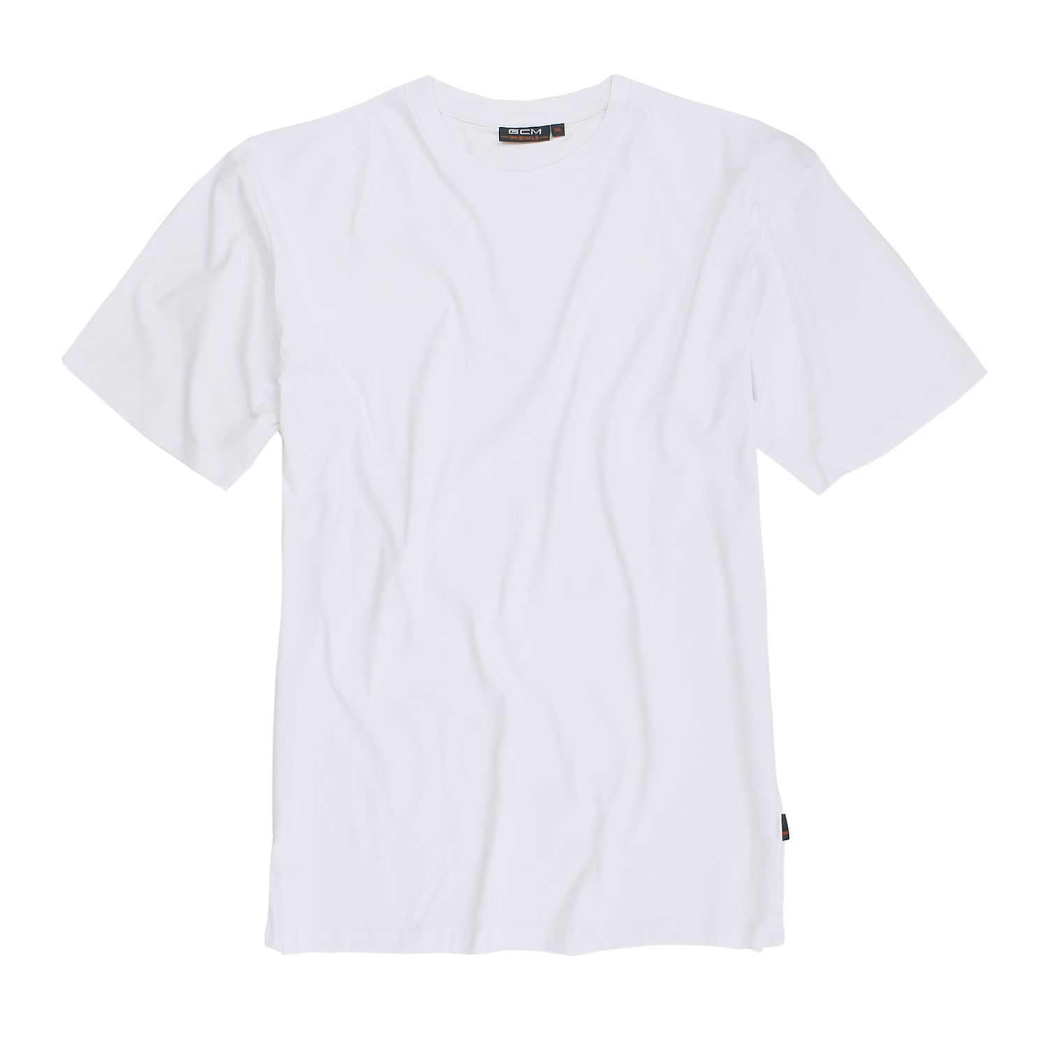 Detail Image to T-shirt in white by GCM Originals in oversizes up to 6XL