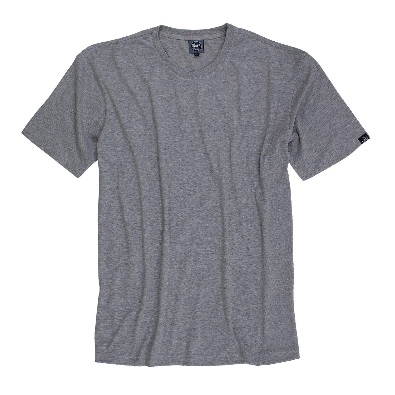 Detailbild zu Grau melierte T-Shirts im Doppelpack von Ahorn Sportswear in großen Größen bis 10XL