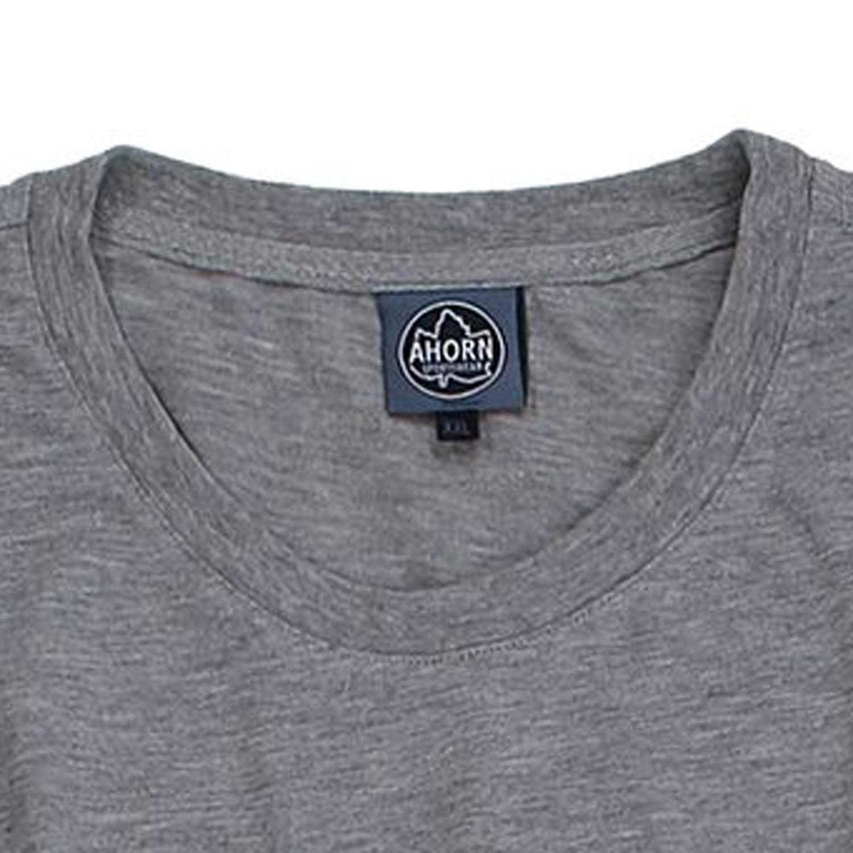 Image de détail de Lot de deux T-shirts gris chiné col rond by Ahorn Sportswear grandes tailles jusqu'au 10XL