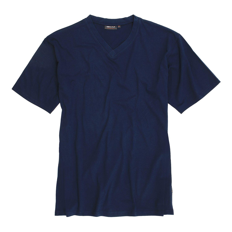 Detailbild zu T-Shirt mit V-Ausschnitt in navy von GCM Originals bis Übergröße 6XL