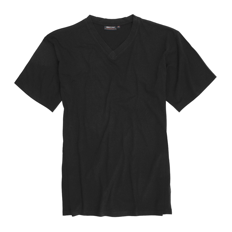 Detailbild zu Kurzarm V-Shirt von GCM Originals in schwarz bis Übergröße 6XL