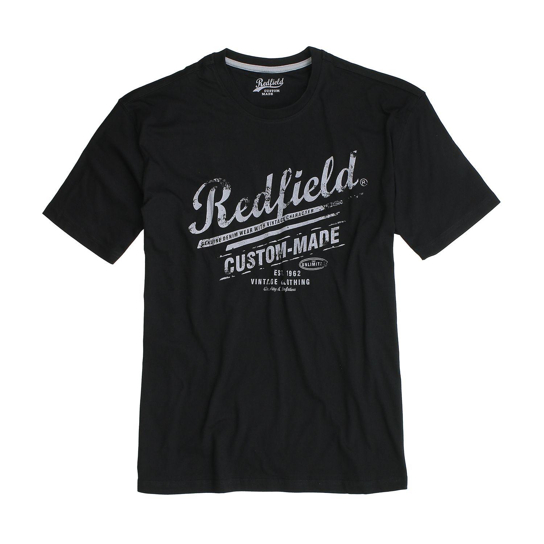 Detailbild zu Übergrößen T-Shirt in schwarz für Herren von Redfield bis 8XL