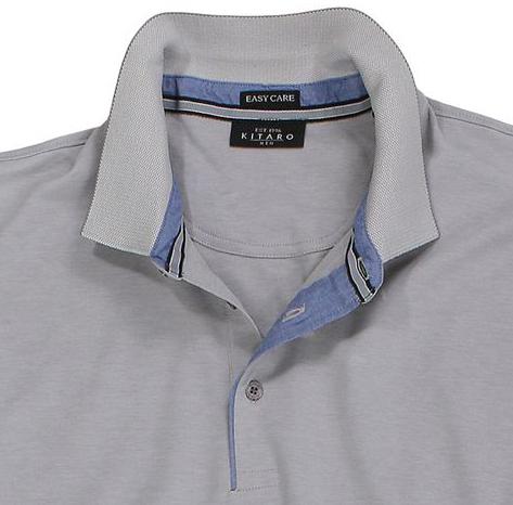 Detailbild zu Kitaro Kurzarm-Poloshirt in beige bis Übergröße 6XL