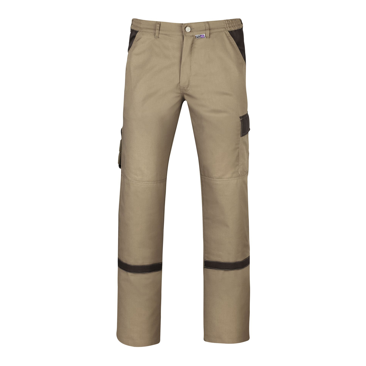 Detail Image to Working trousers model Praktika in sand-brown by PKA Klöcker in large sizes 58-66