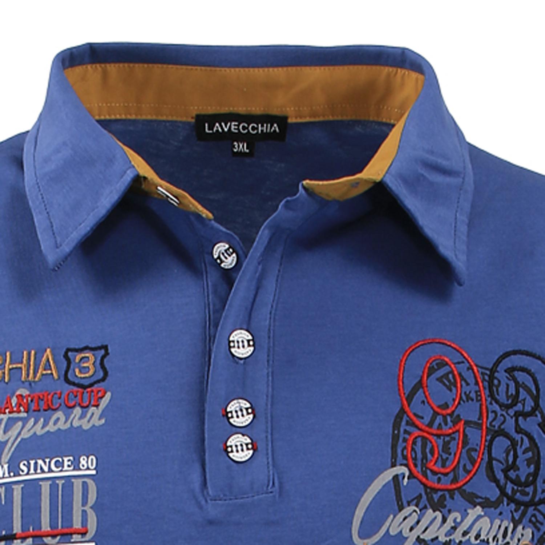 Lavecchia Mens Polo Shirt Indigo Blue